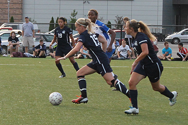 Aubrey Sherman scored in the 33rd minute to send Shawnee's contest with Asbury University to half tied at one.