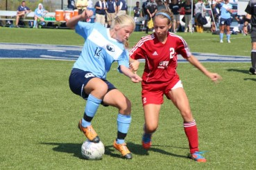 Jenny Campbell provided the only goal for the Bears, who fell 2-1 to Clarke University on Saturday.